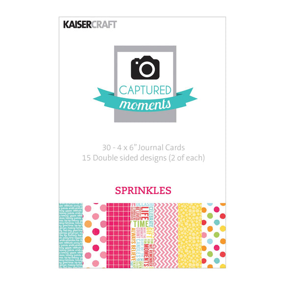 Captured Moments Double-Sided 4x6 Cards (30PKG): Sprinkles