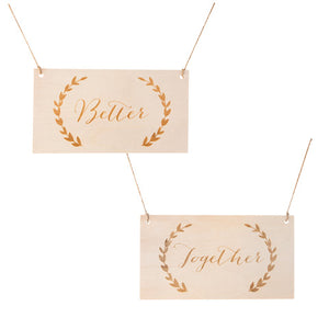 David Tutera™ Better Together Chair Signs: 11.7x6.35in, 2pc