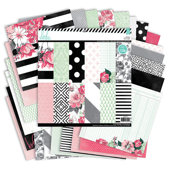 Heidi Swapp 12x12 Paper Pack: Memory Planner (Hello Beautiful)