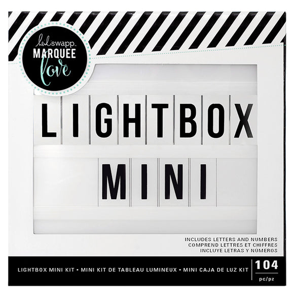 Heidi Swapp Light Box Mega Pack: (Mini Lightbox + Alphabet 104PCS)