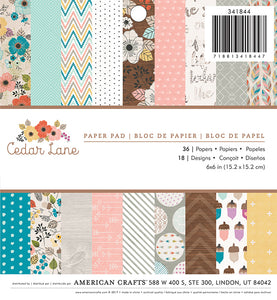 American Crafts 6x6 Paper Pack: Cedar Lane
