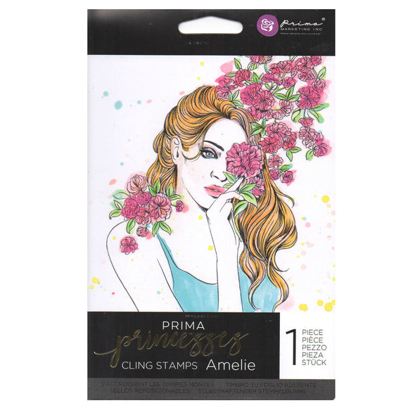 Prima Princess Cling Stamps: Amelie