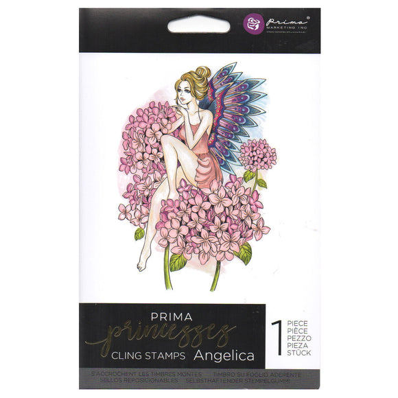 Prima Princess Cling Stamps: Angelica