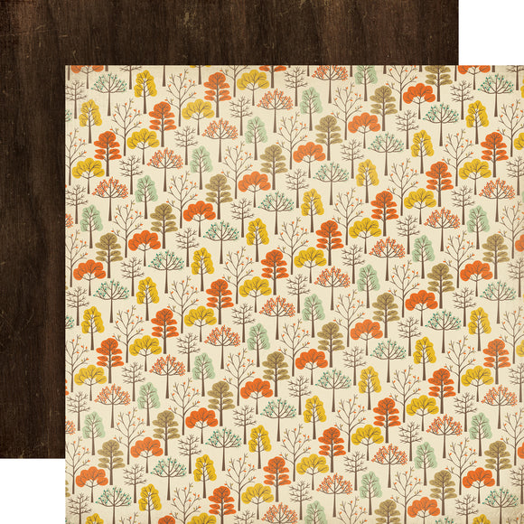 12x12 Designer Paper: Autumn Trees