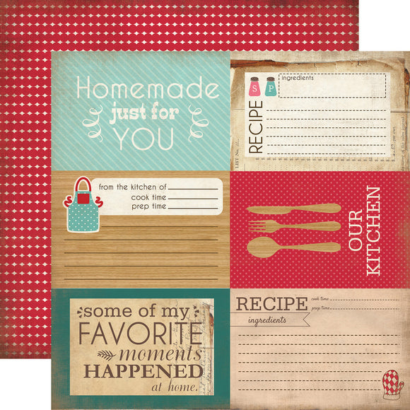 12x12 Designer Paper: Homemade Just For You Journalling Cards
