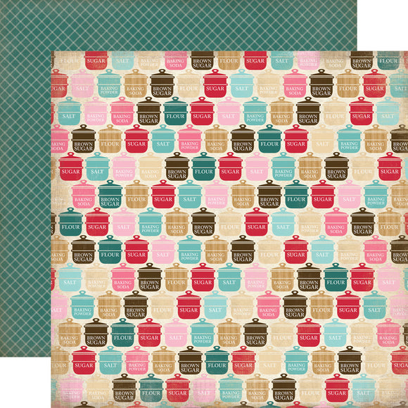 Carta Bella 12x12 Designer Paper: Baking Ingredients