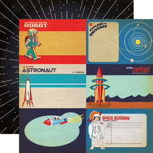 12x12 Designer Paper: Explore the Universe Journalling Cards