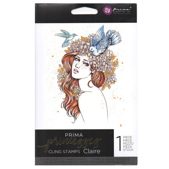Prima Princess Cling Stamps: Claire