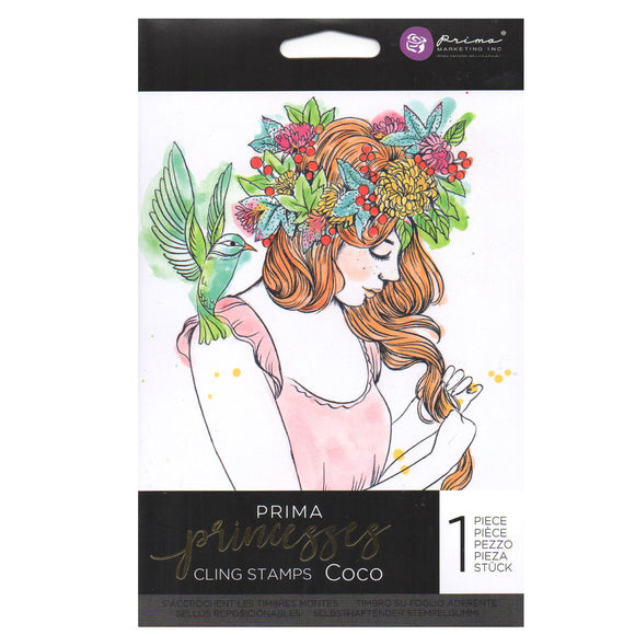 Prima Princess Cling Stamps: Coco