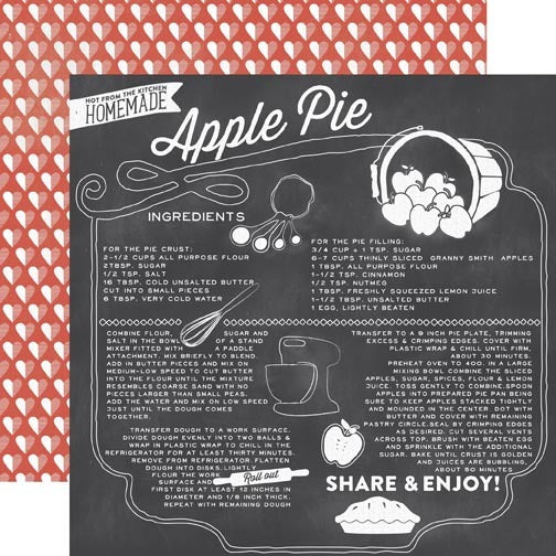 12x12 Designer Paper: Apple Pie