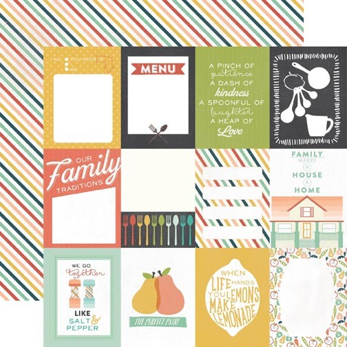 12x12 Designer Paper: When Life Hands You Lemons Journalling Cards