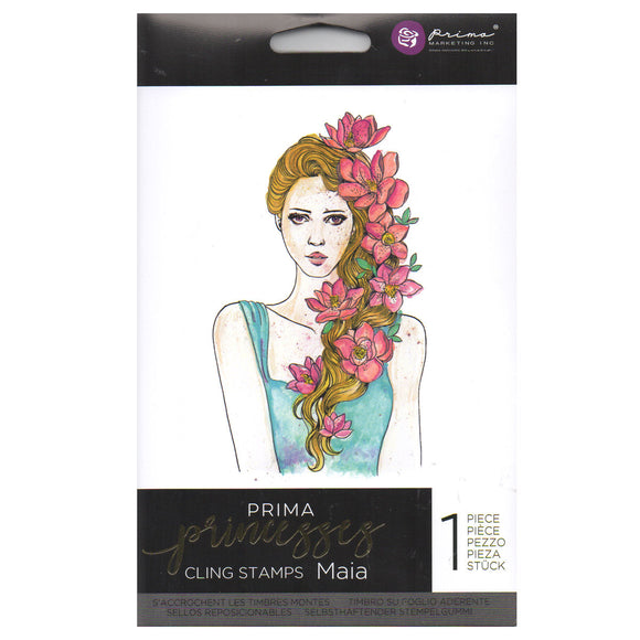 Prima Princess Cling Stamps: Maia