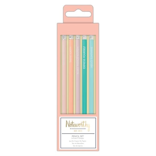 Pencil Set (5pcs) - Pastel Hues