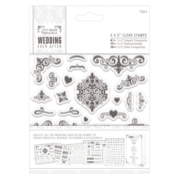 Clear Stamps (5x5): Wedding Collection (Flourishes)