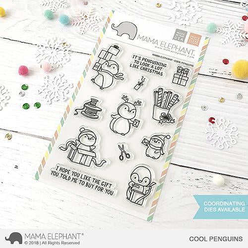 Mama Elephant 4x6 Clear Stamps: Cool Penguins