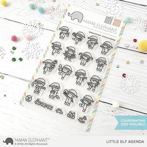 Mama Elephant 4x6 Clear Stamps: Little Elf Agenda