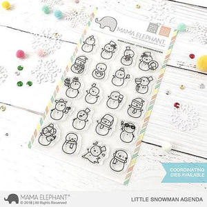 Mama Elephant 4x6 Clear Stamps: Little Snowman Agenda