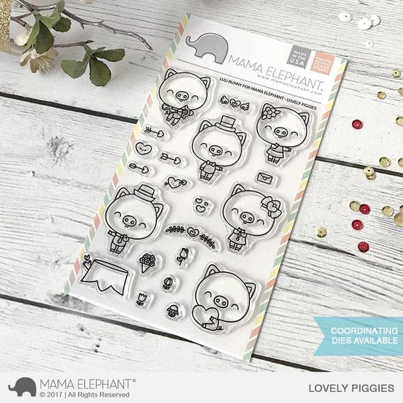 4x6 Clear Stamps: Lovely Piggies