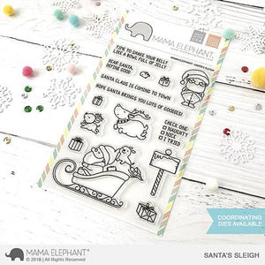 Mama Elephant 4x6 Clear Stamps: Santa's Sleigh