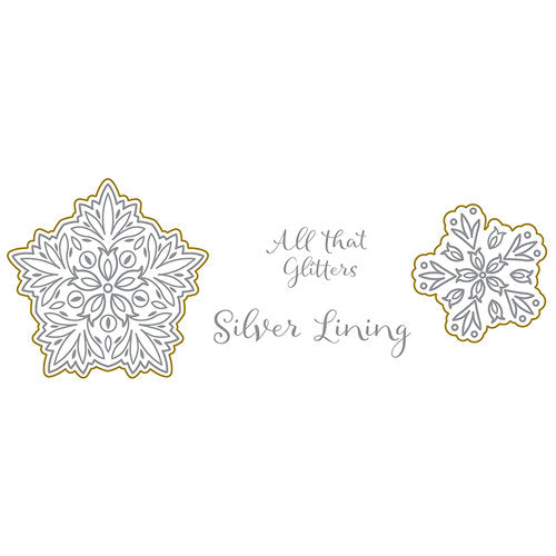 Dies and Stamps Set: Silver and Gold (Silver Lining)