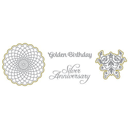 Dies and Stamps Set: Silver and Gold (Golden Birthday)