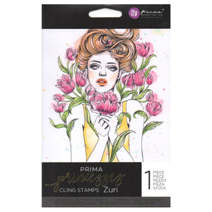 Prima Princess Cling Stamps: Zuri