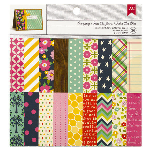 American Crafts 6x6 Paper Pack: Everyday