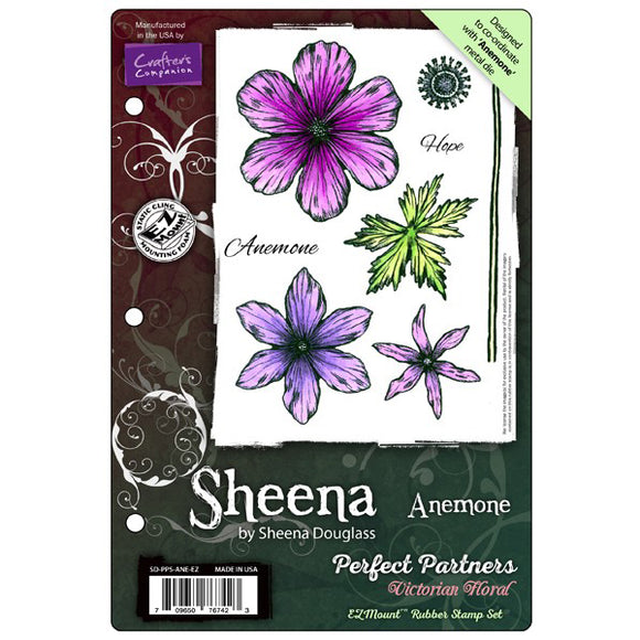Sheena Douglass Perfect Partners Victorian Floral EZMount Stamp Set: Anemone