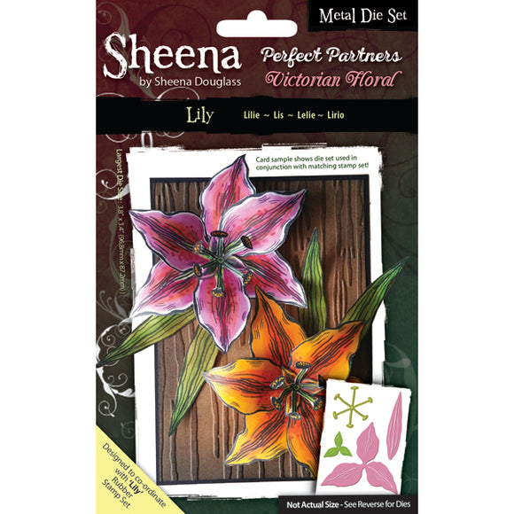 Sheena Douglass Perfect Partners Victorian Floral Metal Die: Lily
