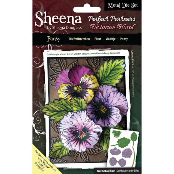 Sheena Douglass Perfect Partners Victorian Floral Metal Die: Pansy
