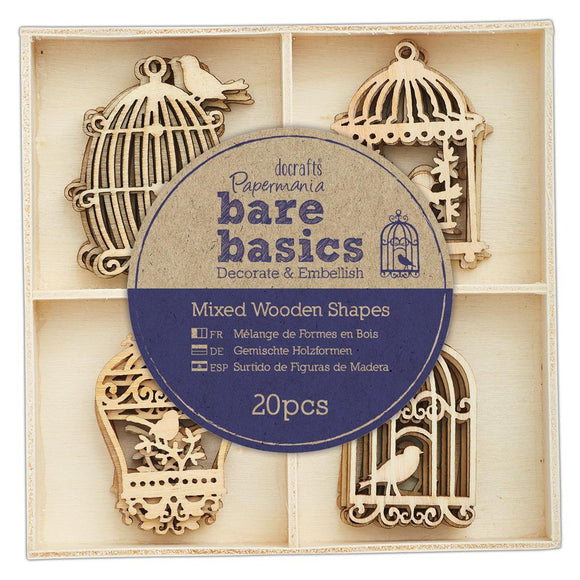 Bare Basics Wooden Shapes - Birdcages