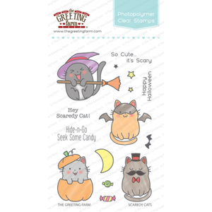 4x6 Clear Stamps: Scaredy Cats