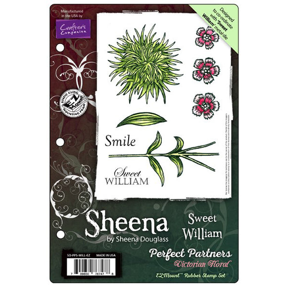 Sheena Douglass Perfect Partners Victorian Floral EZMount Stamp Set: Sweet William