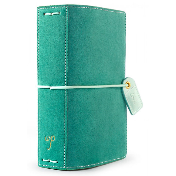 Webster's Pages Pocket Traveler: Aspen Green Suede