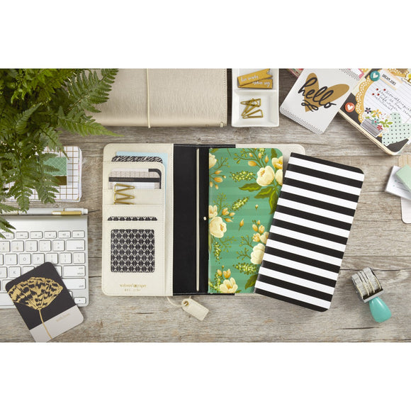 Webster's Pages Traveler Notebook Inserts: BW Stripe & Green Floral