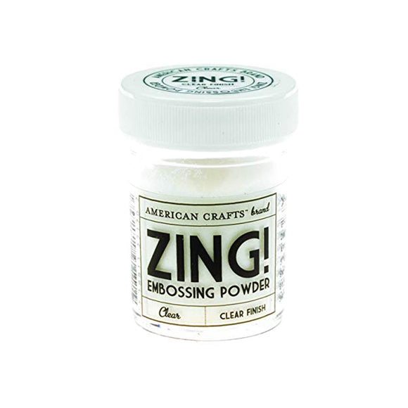 Zing Embossing Powder: Clear