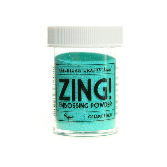 Zing Embossing Powder: Aqua