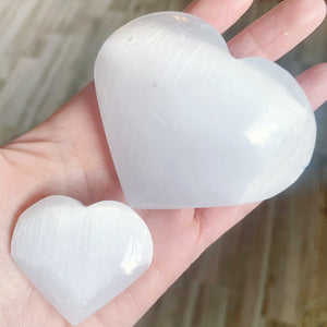 Selenite Hearts -2 sizes