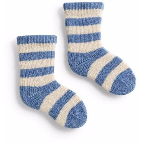 Baby Classic Stripe Wool & Cashmere Socks - Chambray