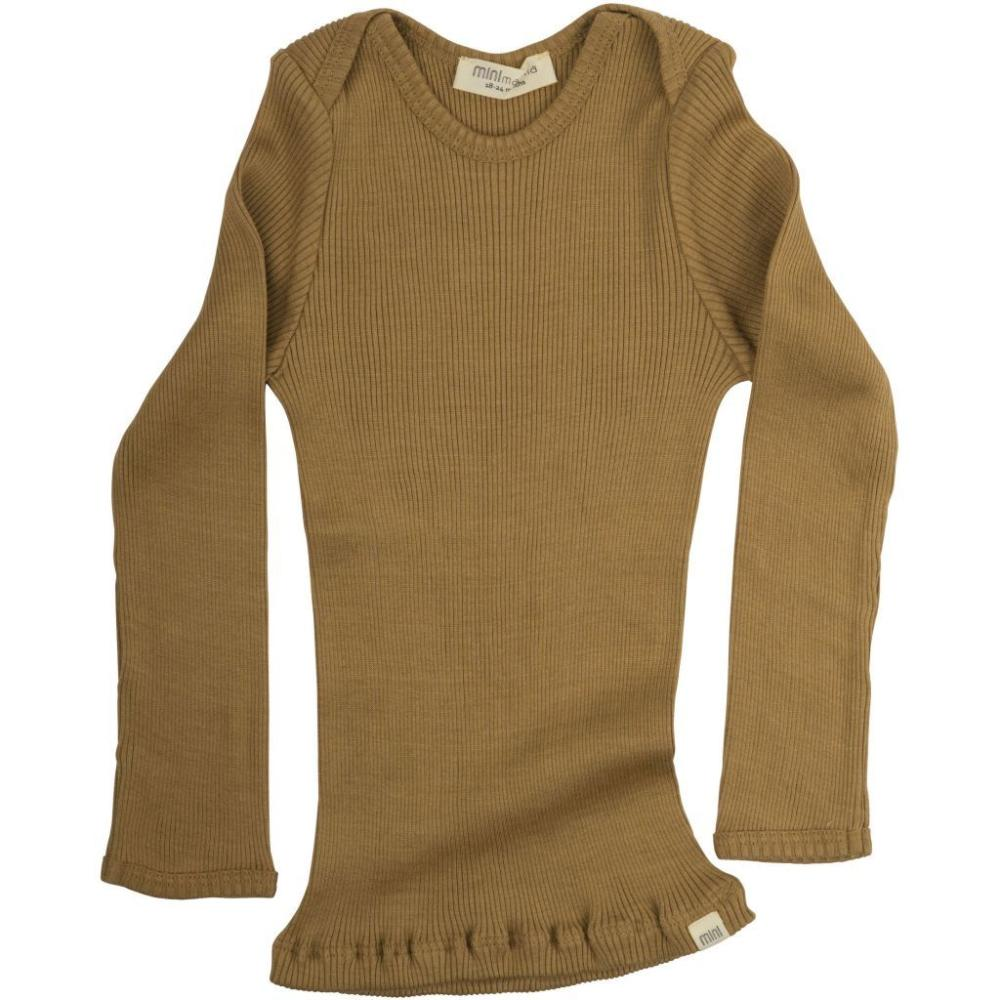 Silk/Cotton Belfast LS Envelope Top - Golden Leaf (0-2)