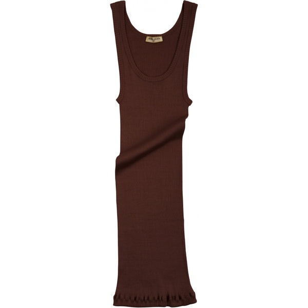Silk/Cotton Adult Rib Tank Top - Mahogany