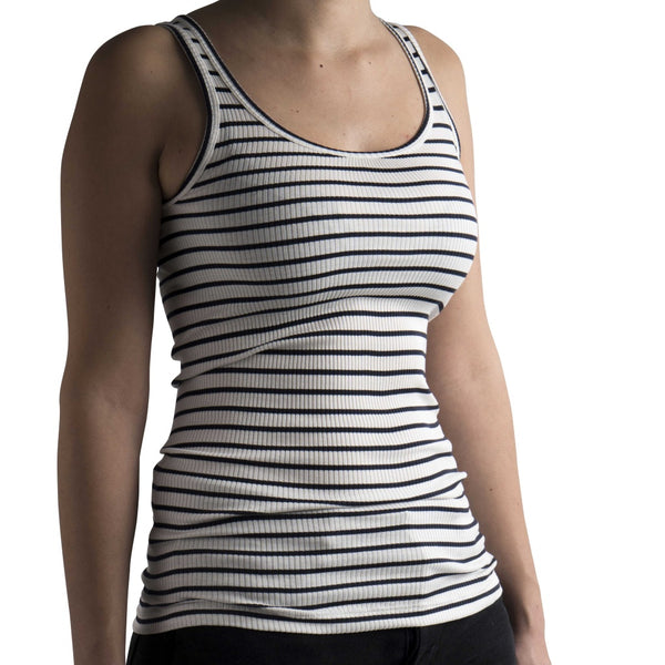 Silk/Cotton Adult Rib Tank Top - Sailor