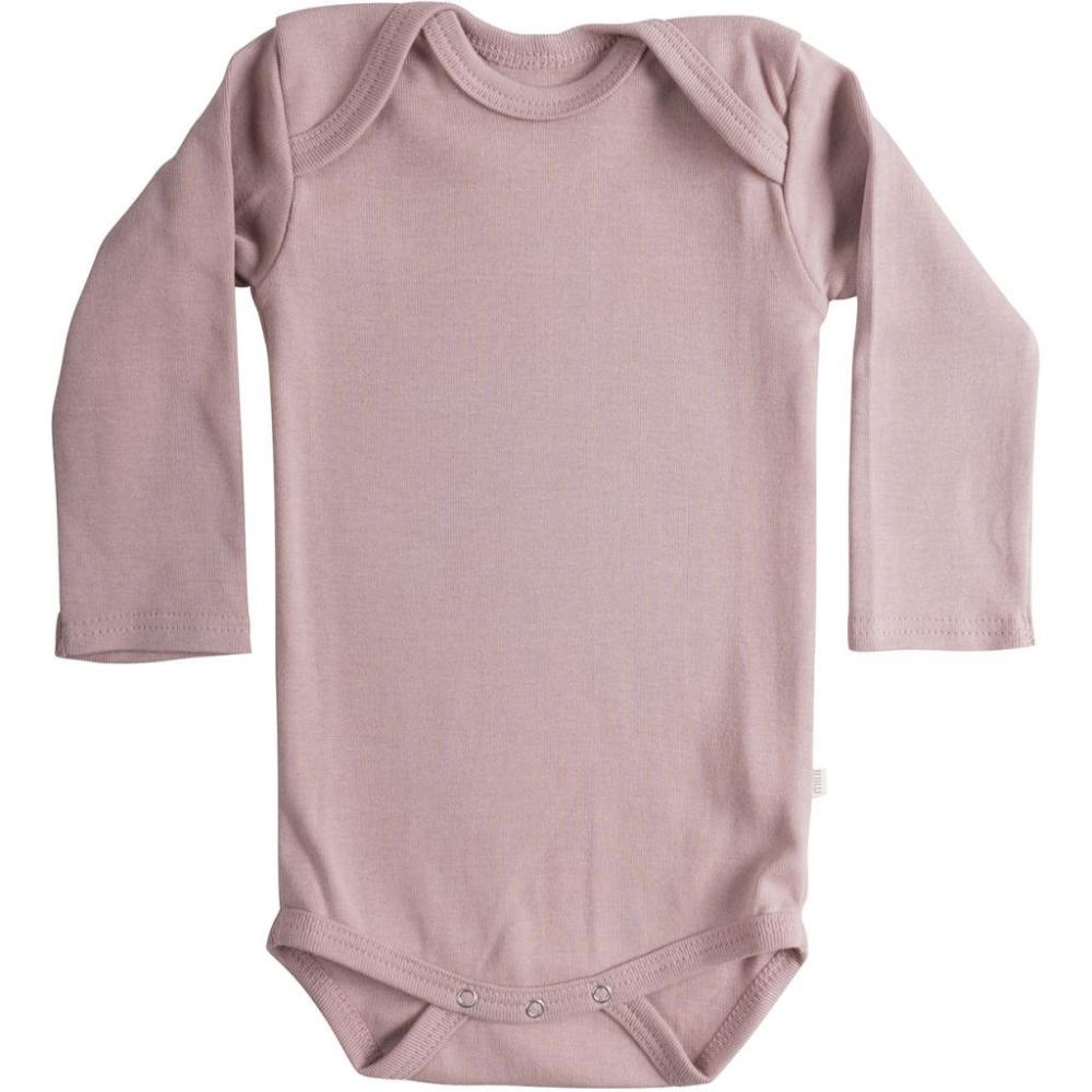 Organic Cotton Nebel Baby Body - Dusty Rose
