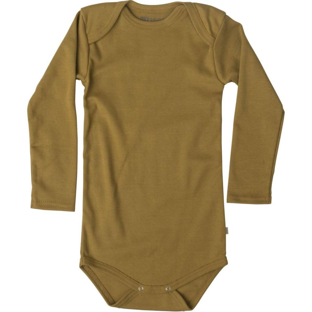 Organic Cotton Nebel Baby Body - Golden Leaf