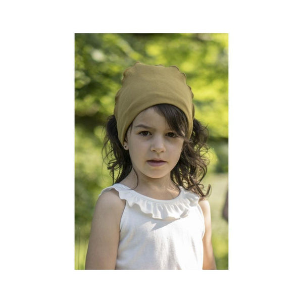 Minimalisma Organic Cotton Frill Scarf - Golden Leaf