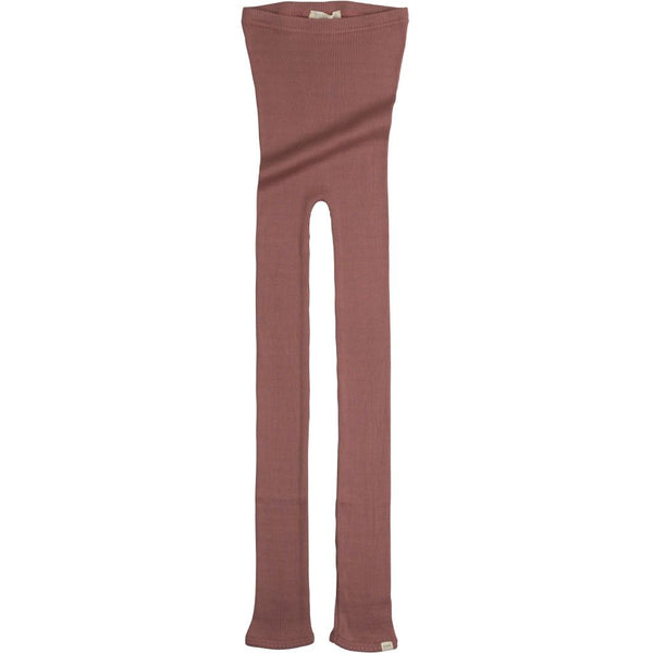 Silk/Cotton Bieber Rib Pants - Antique Red