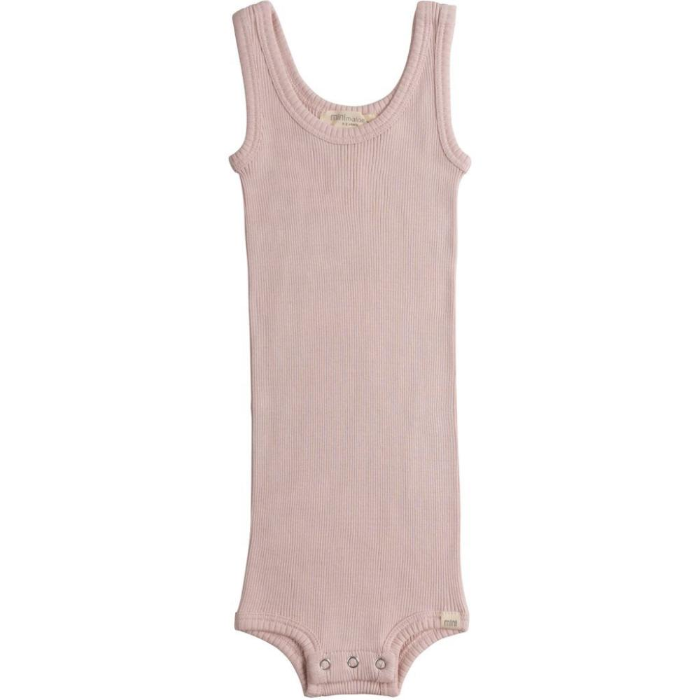 Minimalisma Silk/Cotton Bornholm Tank Baby Body - Sweet Rose