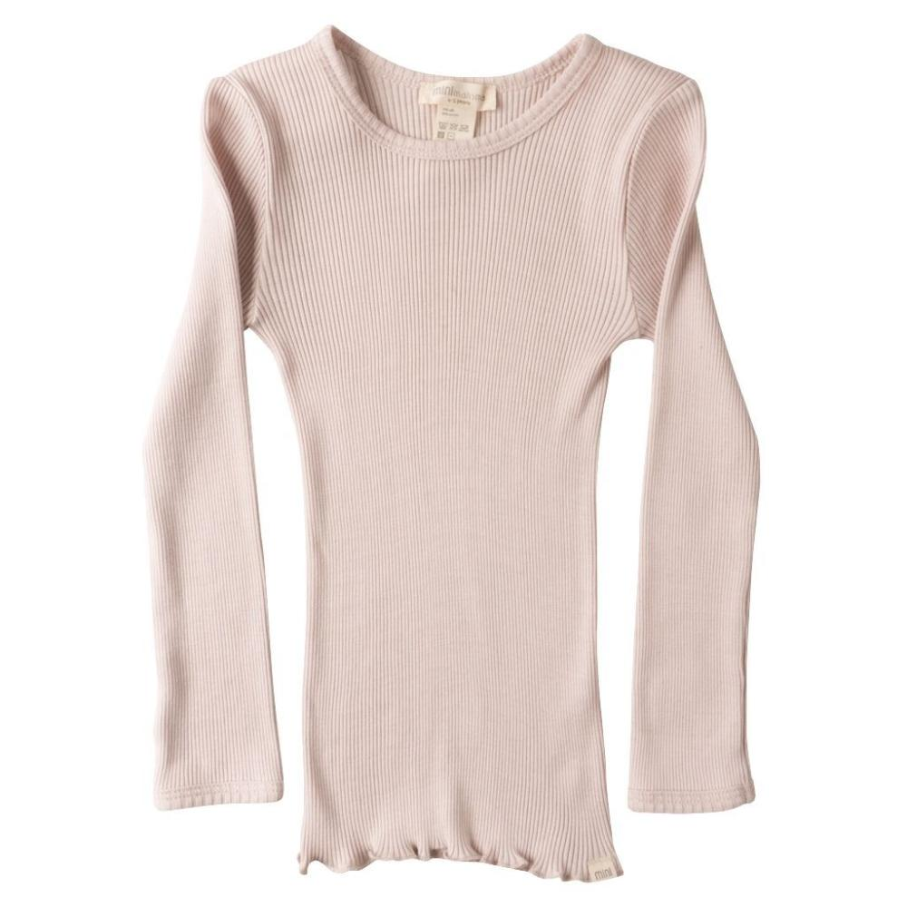 Silk/Cotton Bergen LS Top - Sweet Rose (2-11y)