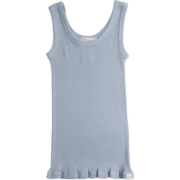 Minimalisma Silk/Cotton Billund Rib Tank Top - Fog Blue