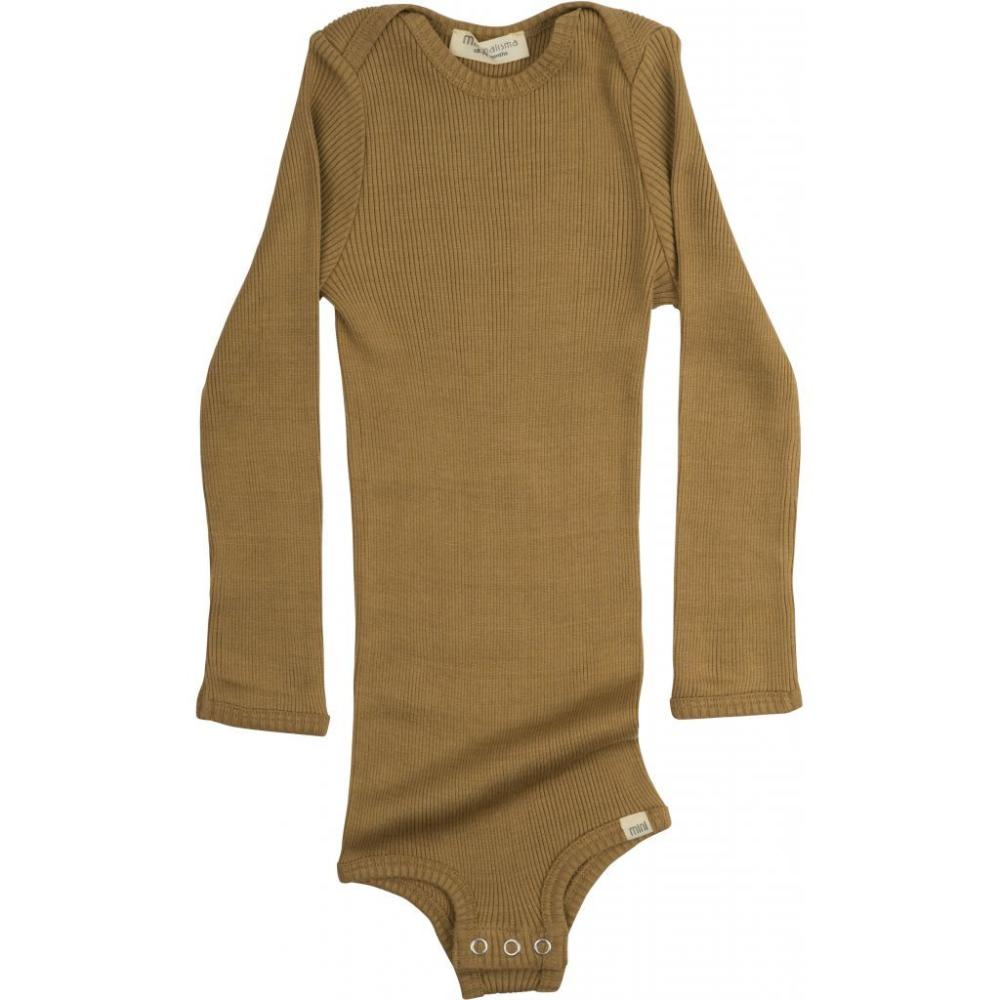 Silk/Cotton Bono LS Baby Body - Golden Leaf